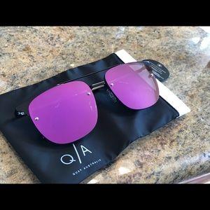 Quay Australia Private Eye Sunglasses Purple